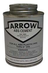 Black ABS Cement, 8oz