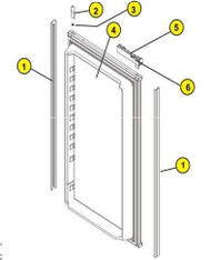 Norcold Door Liner Assembly Lower, Black