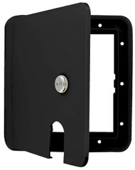 Cynder 30/50 Amp Keyed Lock Electric Cable Hatch, Large, Black