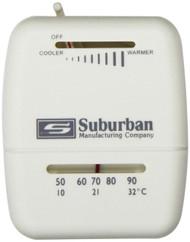 Suburban Thermostat - Heat Only - White