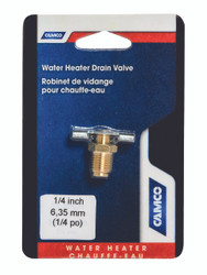 "Camco Water Heater Drain Valve 1/4"" - Brass"
