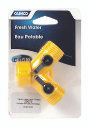 Camco Fresh Water Garden Hose Shut Off Y Valve - Plastic