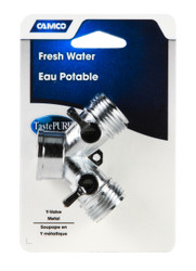 Camco Fresh Water Garden Hose Y Valve  - Metal
