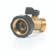 Camco Fresh Water Fill Hose Brass 45 Degree Shut Off Valve