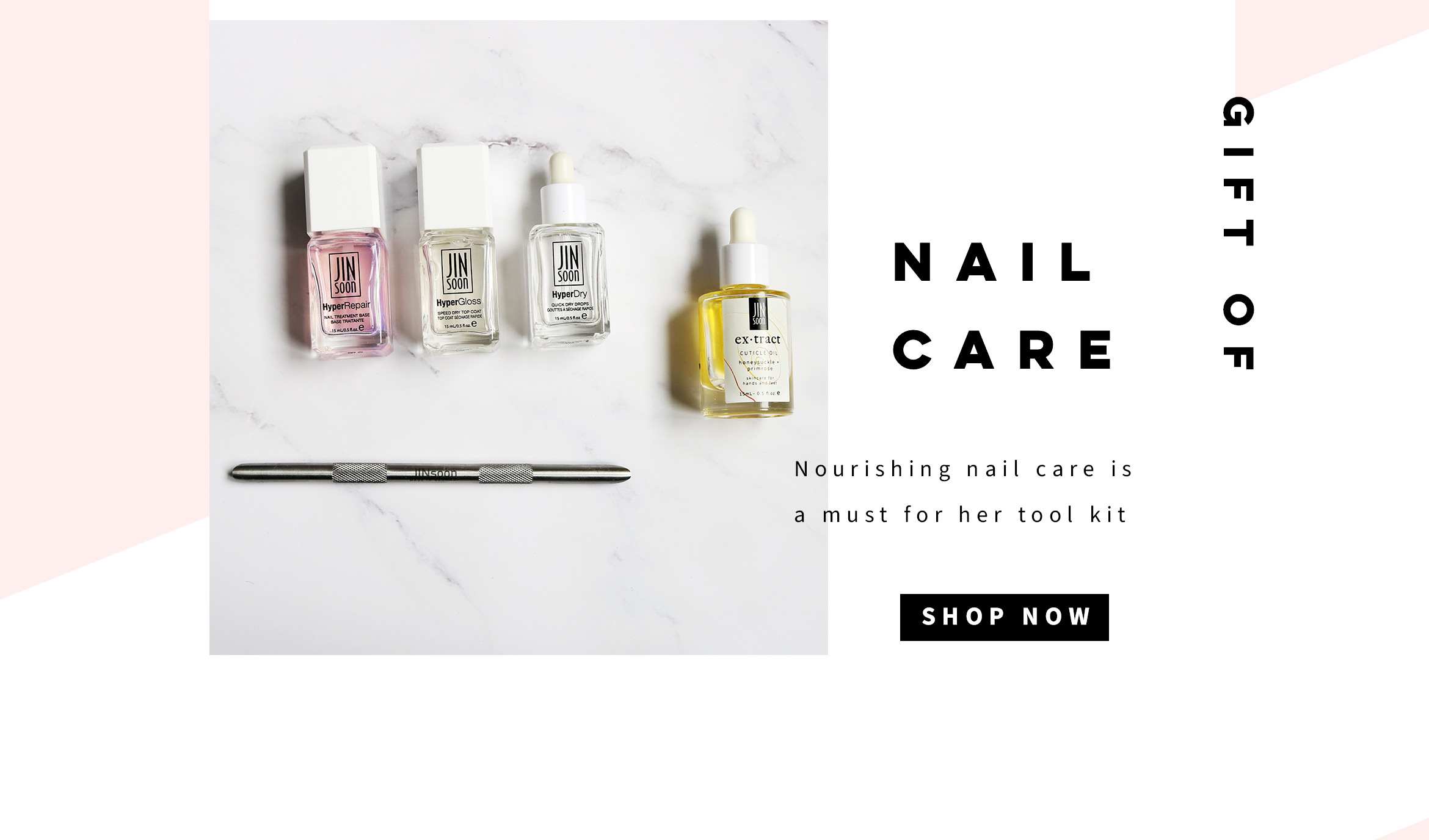 Nail Care with HyperCare series and Cuticle Pusher and oil