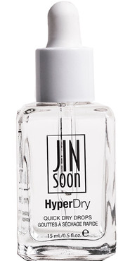 Delightful rose-scented HyperDry nail polish drops accelerate drying time on freshly polished nails while delivering a brilliant shine.Each drop is enriched with coconut oil and avocado oil to strengthen the nail and nourishes the cuticle while protecting nails from smudging or scratching. Bottle shot of HyperDry