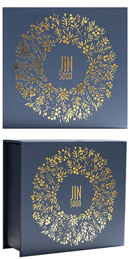 Gold Wreath Holiday Set Box