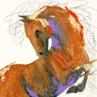 "Limited edition giclée print on canvas by fine artist Sarah Rogers. ""Paint Pony #2"", 36x36"