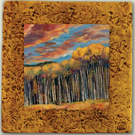 """Aspen Tile 01"" by Miro and Maria Kenarov, 10""x10"" ready to hang."