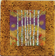 """Aspen Tile 02"" by Miro and Maria Kenarov, 10""x10"" ready to hang."