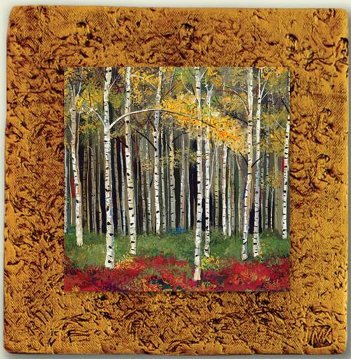 """""""Aspen Tile 03"""" by Miro and Maria Kenarov, 10""""x10"""" ready to hang."""