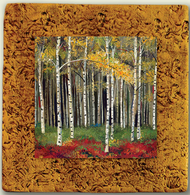 """Aspen Tile 03"" by Miro and Maria Kenarov, 10""x10"" ready to hang."