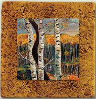 """""""Aspen Tile 04"""" by Miro and Maria Kenarov, 10""""x10"""" ready to hang."""