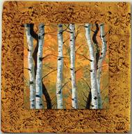 """""""Aspen Tile 05"""" by Miro and Maria Kenarov, 10""""x10"""" ready to hang."""