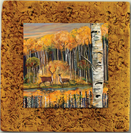 """Aspen Tile 06"" by Miro and Maria Kenarov, 10""x10"" ready to hang."
