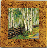 """Aspen Tile 07"" by Miro and Maria Kenarov, 10""x10"" ready to hang."