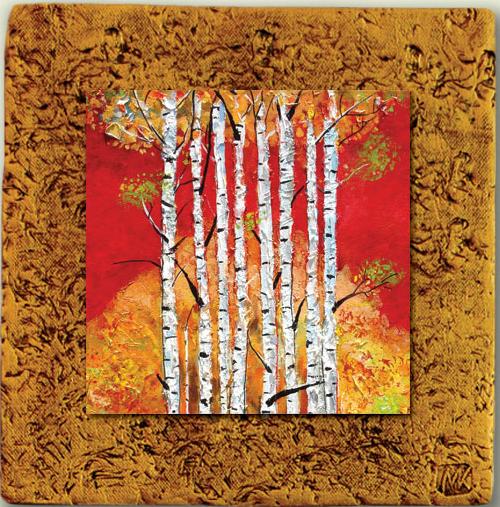 """""""Aspen Tile 08"""" by Miro and Maria Kenarov, 10""""x10"""" ready to hang."""