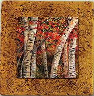 """""""Aspen Tile 09"""" by Miro and Maria Kenarov, 10""""x10"""" ready to hang."""