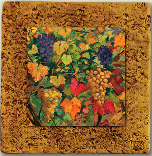 """""""Countryside Tile 01"""" by Miro and Maria Kenarov, 10""""x10"""" ready to hang."""