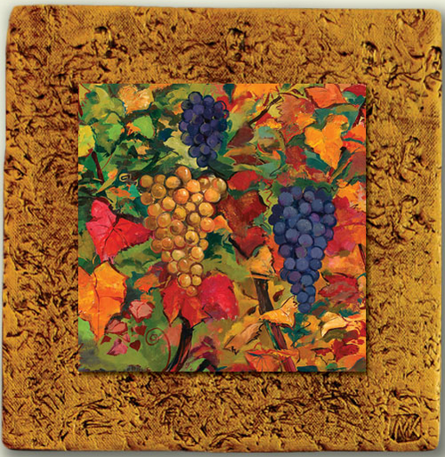 """Countryside Tile 03"" by Miro and Maria Kenarov, 10""x10"" ready to hang."