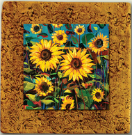 """Countryside Tile 04"" by Miro and Maria Kenarov, 10""x10"" ready to hang."