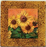 """Countryside Tile 06 by Kenarov Art, 10""""x10"""" ready to hang."""