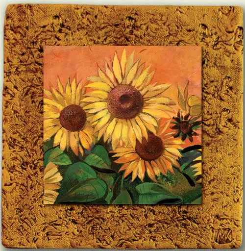 """Countryside Tile 06""  by Miro and Maria Kenarov, 10""x10"" ready to hang."
