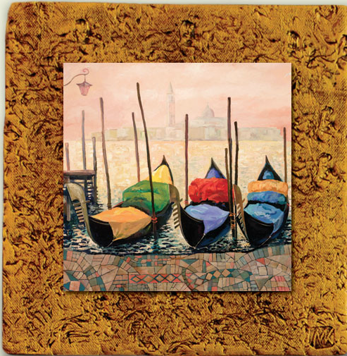 """Italy Tile 01"" by Miro and Maria Kenarov, 10""x10"" ready to hang."