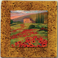 """Italy Tile 02"" by Miro and Maria Kenarov, 10""x10"" ready to hang."