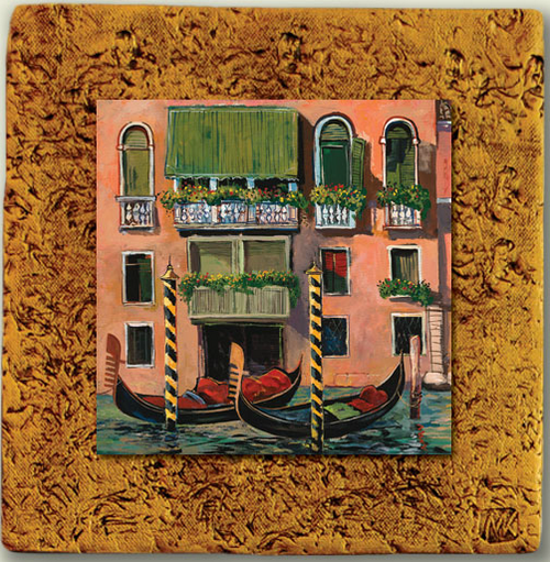 """Italy Tile 03"" by Miro and Maria Kenarov, 10""x10"" ready to hang."