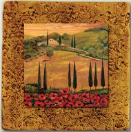 "Italy Tile 06 by Kenarov Art, 10""x10"" ready to hang."