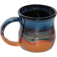 Large Mug by Always Azul Pottery holds 14 oz. and is completely functional. Dishwasher and microwave safe as well as lead free.  Always Azul mugs are available in several glaze colors and decal options.