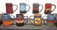 This 3/4 Tankard by Always Azul is completely functional being dishwasher and microwave safe Always Azul tankards can be ordered in several glaze colors and decal options.  Please call to check availability of current glaze colors, designer decals and Wrap Scenes.