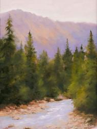 "Original painting by Terri Sanchez, ""Back Country"", Oil, 12x16."