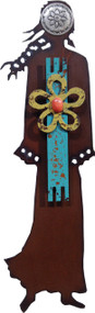 """""""Desert Beauty"""" Spirit Woman by Redford Metal, rusted steel and recycled materials wall decor. 11"""" tall."""
