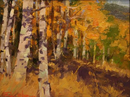 """Autumn Shadow Dancing"" by Terri Sanchez 9x7"
