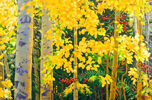 """""""Autumn Berry (Beautiful Colorado)"""" Stanislav Sidorov 24x36"""