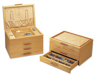 American made 1, 2, and 3 drawer wood jewelry boxes by Michael Fisher of Heartwood.