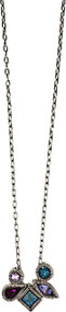 """Pippa Necklace in Waterlily by Patricia Locke Jewelry based in Mundelein, IL. Sterling silver chain with a Austrian crystal set in sterling silver. 0.25"""" pendants on 17.25"""" chain."""