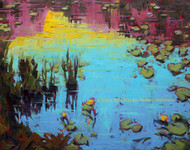 """Nymph Lake Lillies and Reflections"" Maggie Renner-Hellmann 24x30"