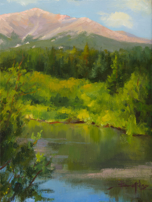 """Beauty Below Longs Peak"" by Terri Sanchez 9x12"
