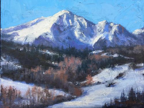 """Winter's Stillness"" by Terri Sanchez. 8x10"