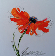 """Possibly a Poppy"" by Sarah Rogers 10x10"