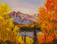 """Siren Song Fall Colors, Rocky Mountain National Park"" Maggie Renner Hellmann 11x14"