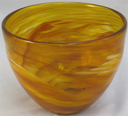 """Deep Bowl in Amber"" by Mark Rosenbaum"