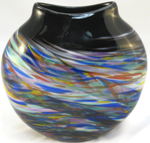 """""""Medallion Vase in Rainbow"""" by Mark Rosenbaum, Rosetree Glass"""