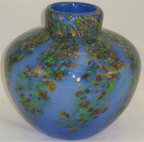 """Round Vase in Spring Wisteria"" by Mark Rosenbaum, Rosetree Glass"