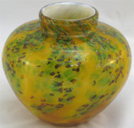 """Round Vase in Gold Wisteria"" by Mark Rosenbaum, Rosetree Glass"