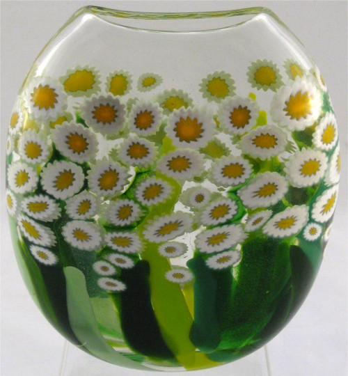 """Disk Vase in Clear Daisy"" by Michael Maddy & Rina Fehrensen, Mad Art Studio"