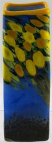 """Small Square Vase in Lemon Tree"" by Michael Maddy & Rina Fehrensen, Mad Art Studio"